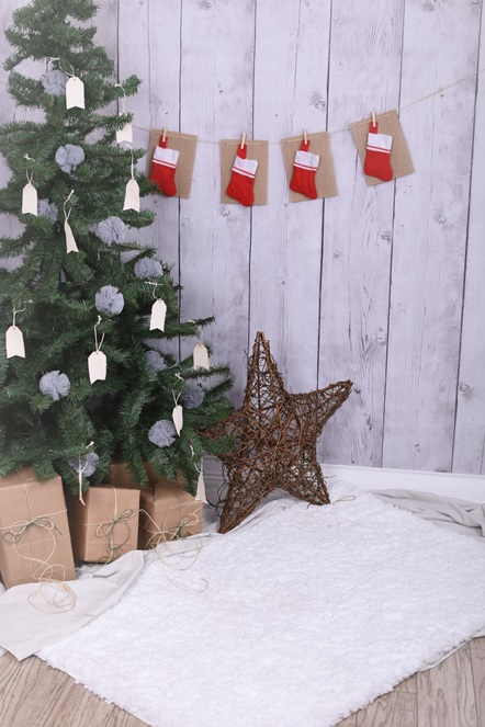 7x7FT Vinyl Photo Backdrops,Christmas,Styled Frame Holiday Photoshoot Props Photo Background Studio Prop